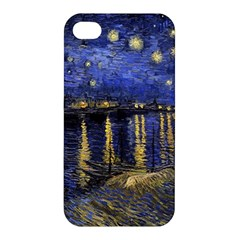 Vincent Van Gogh Starry Night Over The Rhone Apple Iphone 4/4s Premium Hardshell Case by MasterpiecesOfArt
