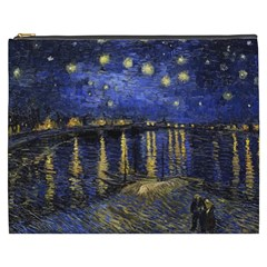 Vincent Van Gogh Starry Night Over The Rhone Cosmetic Bag (xxxl) by fineartgallery