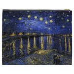 Vincent Van Gogh Starry Night Over The Rhone Cosmetic Bag (XXXL) Back