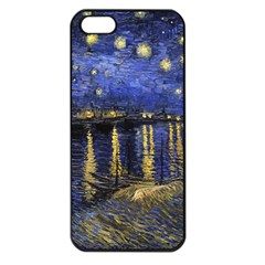 Vincent Van Gogh Starry Night Over The Rhone Apple Iphone 5 Seamless Case (black) by MasterpiecesOfArt