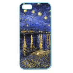 Vincent Van Gogh Starry Night Over The Rhone Apple Seamless Iphone 5 Case (color) by MasterpiecesOfArt