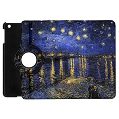 Vincent Van Gogh Starry Night Over The Rhone Apple Ipad Mini Flip 360 Case by fineartgallery