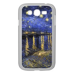 Vincent Van Gogh Starry Night Over The Rhone Samsung Galaxy Grand Duos I9082 Case (white) by MasterpiecesOfArt