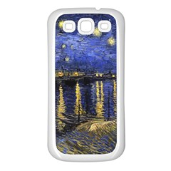 Vincent Van Gogh Starry Night Over The Rhone Samsung Galaxy S3 Back Case (white) by MasterpiecesOfArt