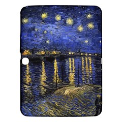 Vincent Van Gogh Starry Night Over The Rhone Samsung Galaxy Tab 3 (10 1 ) P5200 Hardshell Case  by MasterpiecesOfArt