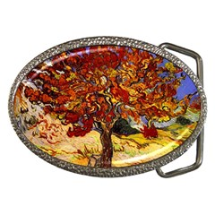 Vincent Van Gogh Mulberry Tree Belt Buckle (oval) by MasterpiecesOfArt