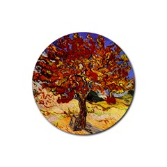 Vincent Van Gogh Mulberry Tree Drink Coasters 4 Pack (round) by MasterpiecesOfArt