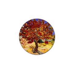 Vincent Van Gogh Mulberry Tree Golf Ball Marker 4 Pack by MasterpiecesOfArt