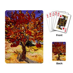 Vincent Van Gogh Mulberry Tree Playing Cards Single Design by MasterpiecesOfArt