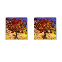 Vincent Van Gogh Mulberry Tree Cufflinks (square) by MasterpiecesOfArt