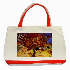 Vincent Van Gogh Mulberry Tree Classic Tote Bag (red) by MasterpiecesOfArt