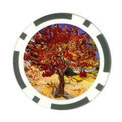 Vincent Van Gogh Mulberry Tree Poker Chip by MasterpiecesOfArt