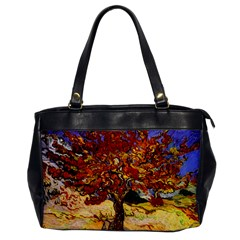 Vincent Van Gogh Mulberry Tree Oversize Office Handbag (one Side) by MasterpiecesOfArt