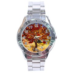 Vincent Van Gogh Mulberry Tree Stainless Steel Watch by MasterpiecesOfArt