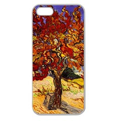 Vincent Van Gogh Mulberry Tree Apple Seamless Iphone 5 Case (clear) by MasterpiecesOfArt