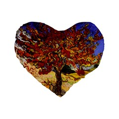 Vincent Van Gogh Mulberry Tree 16  Premium Heart Shape Cushion  by MasterpiecesOfArt