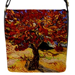 Vincent Van Gogh Mulberry Tree Flap Closure Messenger Bag (small) by MasterpiecesOfArt