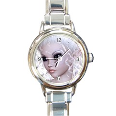 Fairy Elfin Elf Nymph Faerie Round Italian Charm Watch by goldenjackal