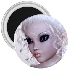 Fairy Elfin Elf Nymph Faerie 3  Button Magnet by goldenjackal