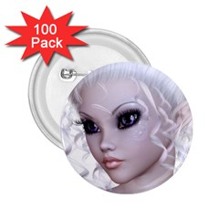 Fairy Elfin Elf Nymph Faerie 2 25  Button (100 Pack) by goldenjackal