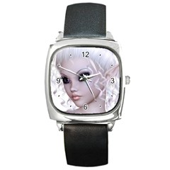 Fairy Elfin Elf Nymph Faerie Square Leather Watch by goldenjackal