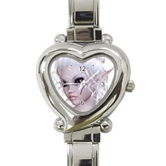 Fairy Elfin Elf Nymph Faerie Heart Italian Charm Watch  by goldenjackal