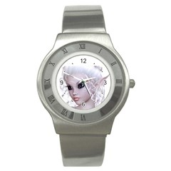 Fairy Elfin Elf Nymph Faerie Stainless Steel Watch (slim) by goldenjackal