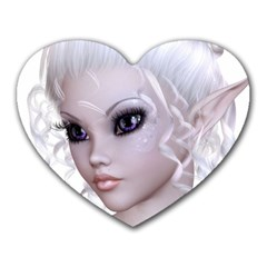 Fairy Elfin Elf Nymph Faerie Mouse Pad (heart) by goldenjackal