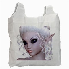 Fairy Elfin Elf Nymph Faerie Recycle Bag (one Side) by goldenjackal