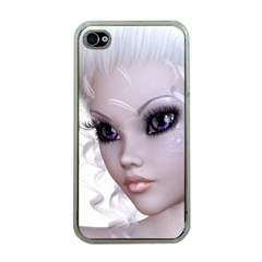 Faerie Nymph Fairy Apple Iphone 4 Case (clear) by goldenjackal