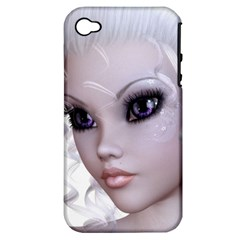 Fairy Elfin Elf Nymph Faerie Apple Iphone 4/4s Hardshell Case (pc+silicone) by goldenjackal