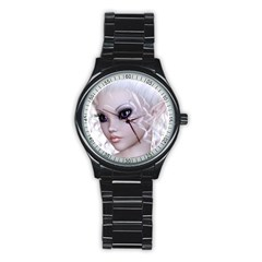 Fairy Elfin Elf Nymph Faerie Sport Metal Watch (black) by goldenjackal