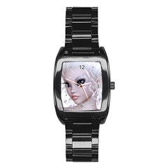 Fairy Elfin Elf Nymph Faerie Stainless Steel Barrel Watch by goldenjackal