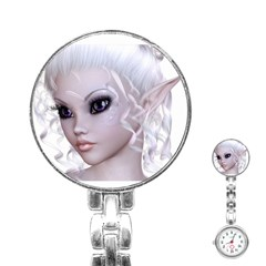 Fairy Elfin Elf Nymph Faerie Stainless Steel Nurses Watch by goldenjackal