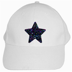 Glitter 1 White Baseball Cap by MedusArt