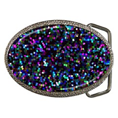 Glitter 1 Belt Buckle (oval) by MedusArt