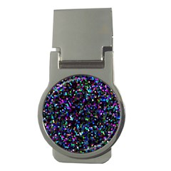 Glitter 1 Money Clip (round) by MedusArt