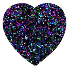 Glitter 1 Jigsaw Puzzle (heart) by MedusArt