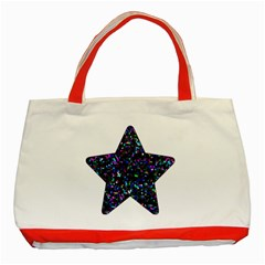 Glitter 1 Classic Tote Bag (red) by MedusArt