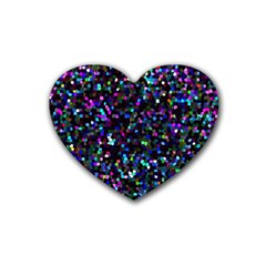 Glitter 1 Drink Coasters (heart) by MedusArt