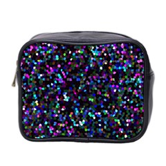 Glitter 1 Mini Travel Toiletry Bag (two Sides) by MedusArt