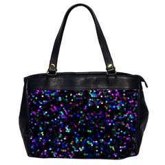 Glitter 1 Oversize Office Handbag (one Side) by MedusArt