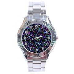 Glitter 1 Stainless Steel Watch by MedusArt