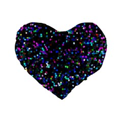 Glitter 1 16  Premium Heart Shape Cushion