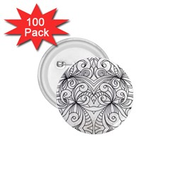 Drawing Floral Doodle 1 1 75  Button (100 Pack) by MedusArt