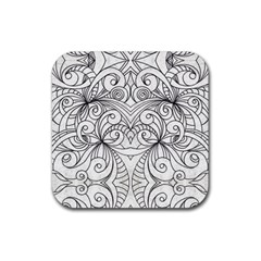 Drawing Floral Doodle 1 Drink Coasters 4 Pack (square) by MedusArt