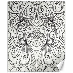 Drawing Floral Doodle 1 Canvas 16  X 20  (unframed) by MedusArt