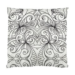 Drawing Floral Doodle 1 Cushion Case (single Sided)  by MedusArt