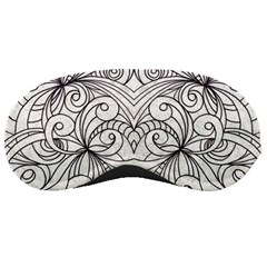 Drawing Floral Doodle 1 Sleeping Mask by MedusArt