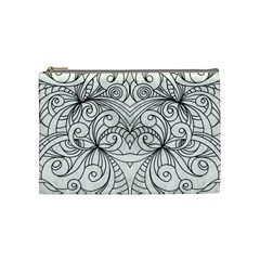 Drawing Floral Doodle 1 Cosmetic Bag (medium) by MedusArt